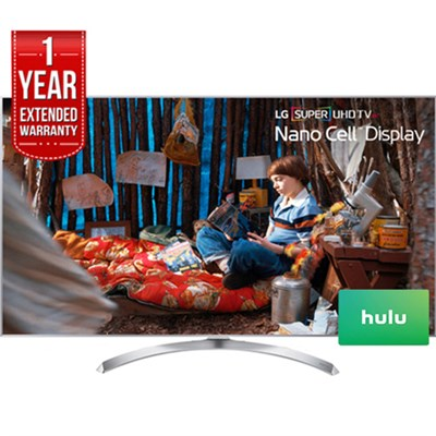 LG SUPER UHD 65 LED TV (2017) with $100 Hulu Card  & 1 Year Warranty