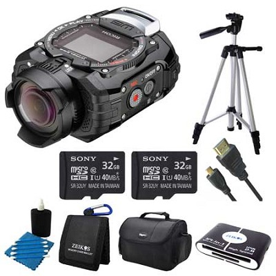 WG-M1 Compact Waterproof Action Digital Camera Kit - Black Adventure Bundle