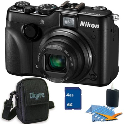 COOLPIX P7100 Digital Camera w/ 7.1x Zoom 4GB Bundle