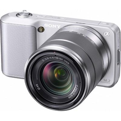 Alpha NEX-3 Interchangeable Lens Silver Digital Camera w/18-55mm Lens