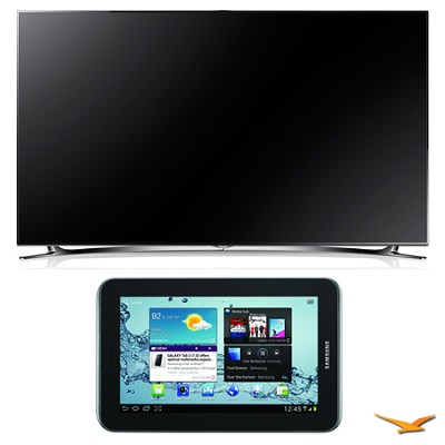 UN55F8000 55` 1080p 240hz 3D LED Smart HDTV and Galaxy Tab 2 Bundle