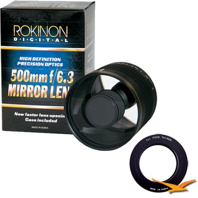 500mm F6.3 Mirror Lens for Olympus Micro 4/3 (Black Body) - ED500M-B