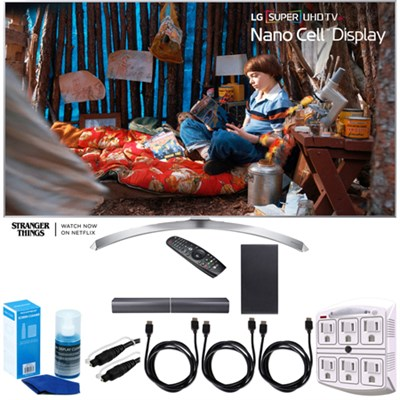 SUPER UHD 65` 4K HDR Smart LED TV (2017 Model) w/ LG SJ7 Sound Bar Bundle