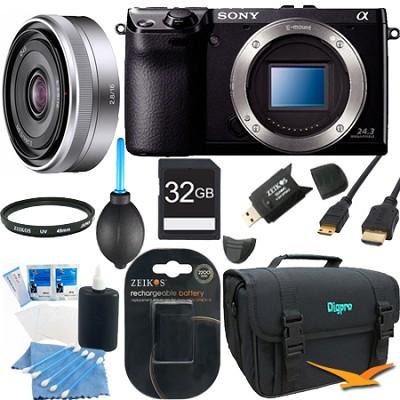 NEX7/B - NEX-7 24.3 MP Black Camera Bundle w/ 16mm Lens & 32GB Memory