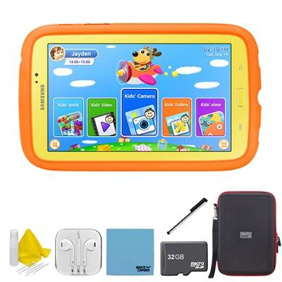 Galaxy Tab 3 7.0` Kids Edition Plus 32 GB Accessory Bundle