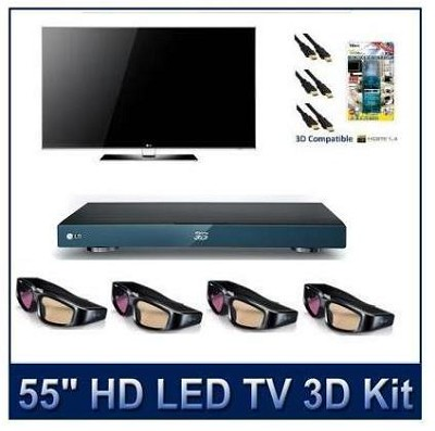 55LX9500  - 55` 1080p 480Hz 3D LED with 4 3D Glasses, 3D Blu Ray and More!