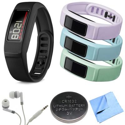 Vivofit 2 Bluetooth Fitness Band (Black)(010-01503-00) Mint/Cloud/Lilac Bundle