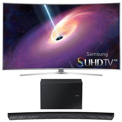 UN65JS9500 - 65-Inch Curved 4K 120hz SUHD 3D LED TV w/ HW-J7500 Soundbar Bundle