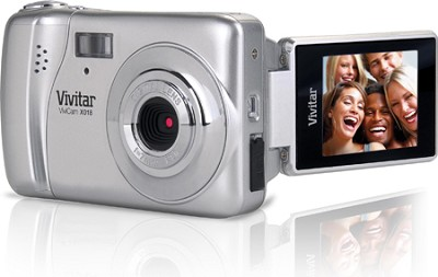 ViviCam iTwist X018 10.1 MP Flip Screen HD Digital Camera (Silver)