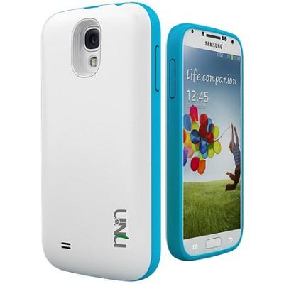 Unity Ultra-Slim 2600mAh Battery Case for Samsung Galaxy S4 - White/Blue