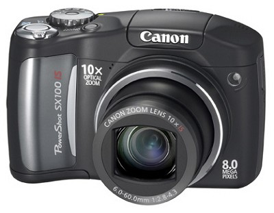 Powershot SX100 IS 8MP Digital Camera (Black)