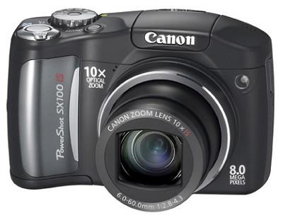 Powershot SX100 IS 8MP Digital Camera (Black)