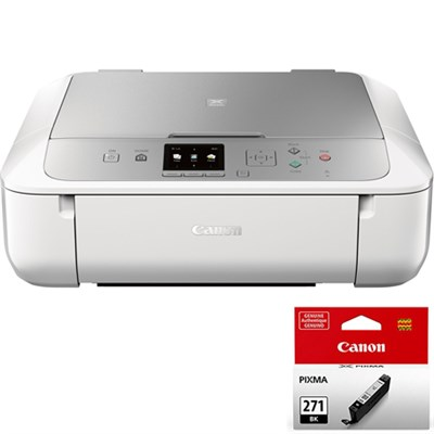 PIXMA MG5722 Wireless Inkjet All-In-One Printer w/ CLI-271 Black Ink Bundle