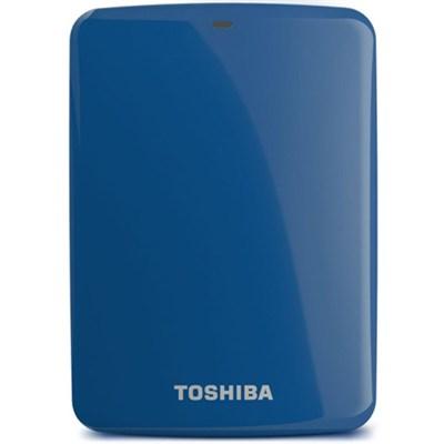 Canvio Connect 500GB Portable Hard Drive, Blue (HDTC705XL3A1)