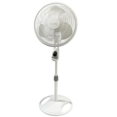16` Oscillating Stand Fan Wht