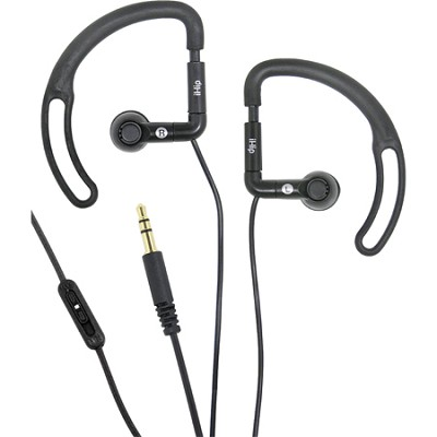 Noise Reduction Sport Earphones with Volume Control (Black)