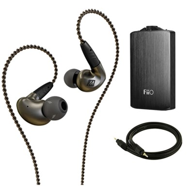 Pinnacle P1 High Fidelity Audiophile In-Ear Headphones w/ FiiO A3 Amp Bundle