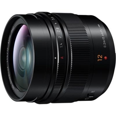 H-X012 12mm F1.4 Aspherical LUMIX G Leica DG Wide Angle Mirrorless Lens