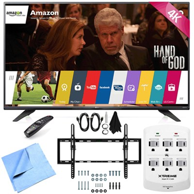 55UF7600 - 55-inch 2160p 120Hz 4K UHD LED TV w/ WebOS Tilt Mount/Hook-Up Bundle