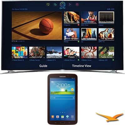 UN60F8000 - 60` 1080p 240hz 3D Smart Wifi LED HDTV - 7-Inch Galaxy Tab 3 Bundle