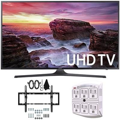 UN40MU6290 6-Series Flat 39.9` LED 4K UHD Smart TV w/ Wall Mount Bundle