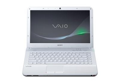 VAIO VPC-EA43FX/WI 14-Inch Entertainment Laptop (White) Intel Core i3-380M