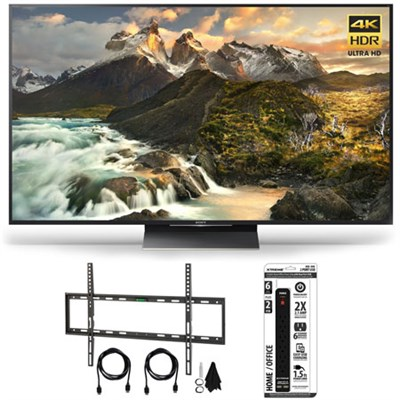 XBR-65Z9D - 65-inch 4K Ultra HD LED TV w/ Flat Wall Mount Ultimate Bundle