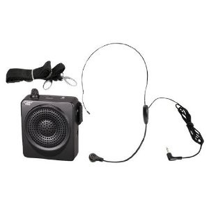 PWMA50B 50 Watts Portable Waist-Band Portable PA System with Headset Microphone,