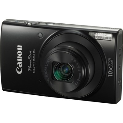 PowerShot ELPH 190 IS Digital Camera with 10x Optical Zoom and Wi-Fi - Black