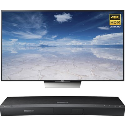65-Inch Class 4K HDR Ultra HD TV - XBR-65X850D w/ Samsung Disc Player