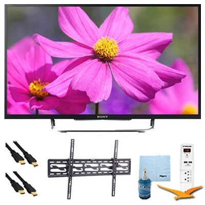 55` LED HDTV 3D WiFi Motionflow XR 480 Tilt Mount & Hook-Up Bundle - KDL55W800B