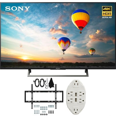 XBR-49X800E 49` 4K HDR Ultra HD Smart LED TV (2017 Model) w/ TV Mount Bundle