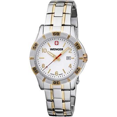 Ladies' Platoon Analog Watch - White Dial/Bi-Color Stainless Steel Bracelet