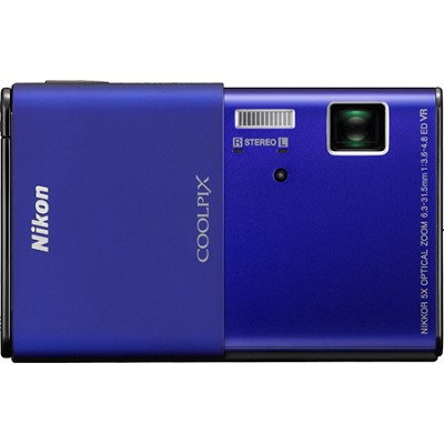 COOLPIX S80 14.1 MP Ultra-Slim 3.5 in Touchscreen Blue Camera w/ HD Video