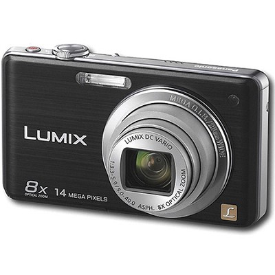 DMC-FH22K LUMIX 14.1 Megapixel Black Digital Camera w/ 3-inch Touch Screen