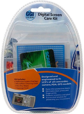 Digital Screen Care Kit (includes; Screen overlays, Clean Cloth, Wet/Dry wipes)