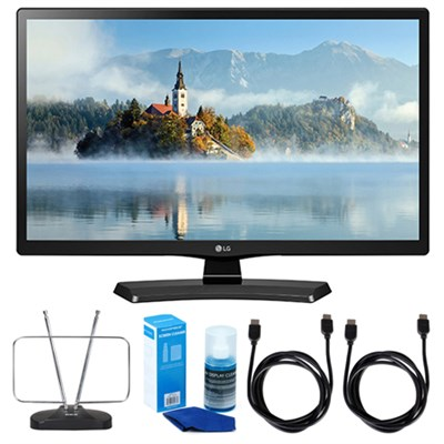 28LJ4540 28` 720p HD LED TV (2017 Model) w/ TV Cut The Cord Bundle