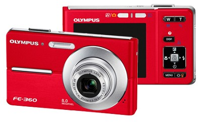 FE-360 8MP Digital Camera (Red)