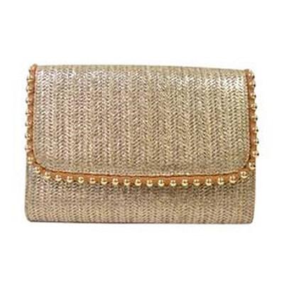 Golda Clutch Cross Body Bag - Linen