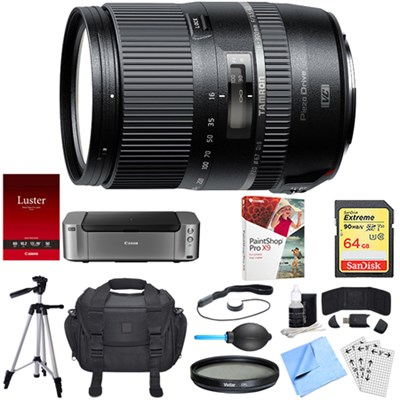 16-300mm f/3.5-6.3 Di II PZD MACRO Lens for Sony Dual Mail in Rebate Bundle