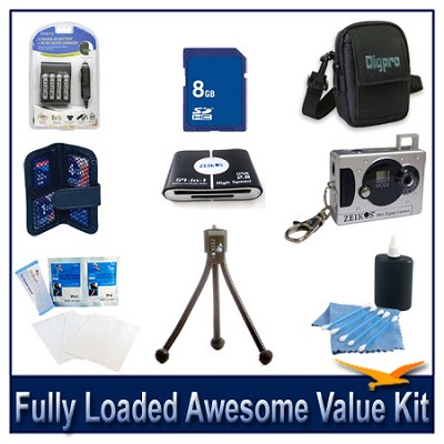 Fully loaded Awesome Value Kit for Digital Point and Shoot Cameras