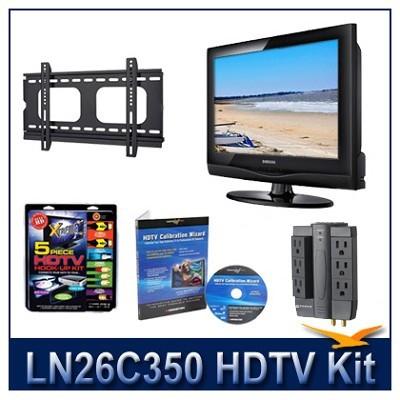 LN26C350 HDTV + Hook-up Kit + Power Protection + Calibration + Flat Mount