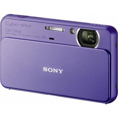Cyber-shot DSC-T99 14MP Violet Touchscreen Digital Camera - Open Box