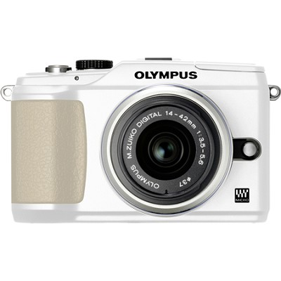 PEN E-PL2 12.3 MP 3-inch LCD Digital SLR Camera With 14-42 Lens Kit - WHITE