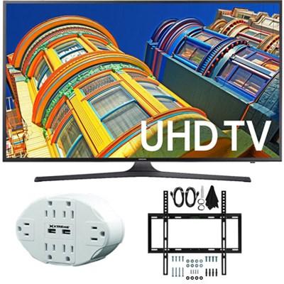 UN43KU6300 43-Inch 4K UHD HDR LED Smart TV KU6300 Flat Slim Wall Mount Bundle