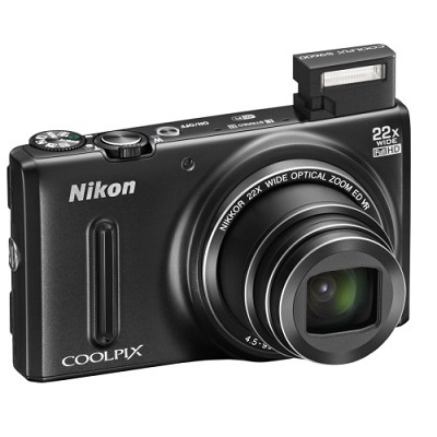 COOLPIX S9600 16MP Digital Camera w/ 22x Opt. Zoom 1080p (Black) Refurbished