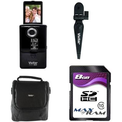 iTwist 805DVR HD 2ViewScreen Digital Camcorder - Black - Bundle