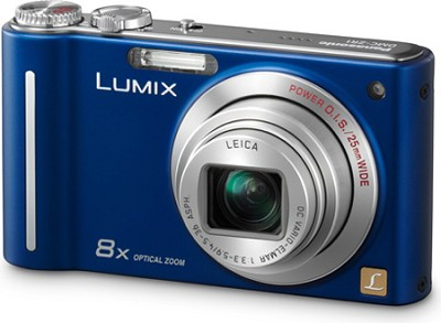 DMC-ZR1A LUMIX 12.1 MP 8x Zoom Digital Camera (Blue)