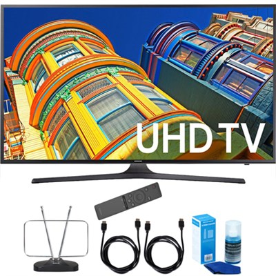 UN55KU6300 - 55` Smart 4K UHD HDR LED TV +Remote +Cord & Clean-Up Bundle