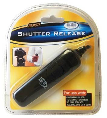 Remote Shutter Release for Canon EOS 1D, 1DS,(incl. Mark II or III), 5D, 40D etc